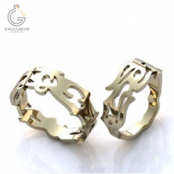 Кольца обручальные из золота без камней