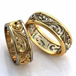 Эксклюзивные парные обручальные кольца без камней