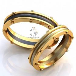 Дизайнерские оригинальные обручальные кольца