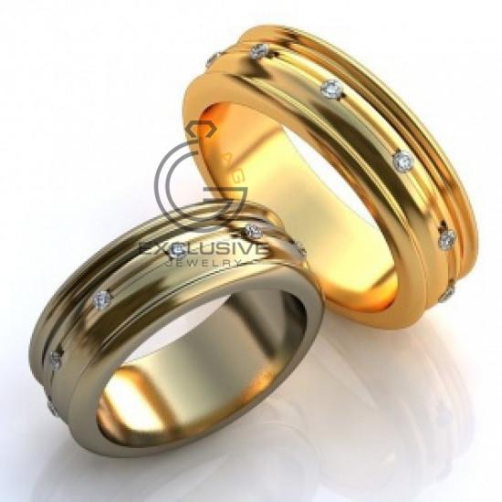 Эксклюзивные обручальные кольца с бриллиантами