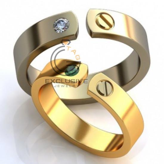 Эксклюзивные обручальные кольца с камнями