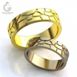 Дизайнерские парные обручальные кольца
