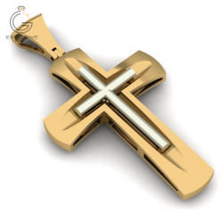 Мужской золотой крест без распятия
