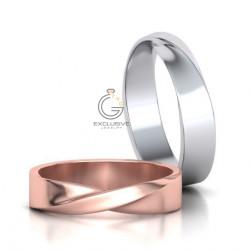 Дизайнерские обручальные кольца парные