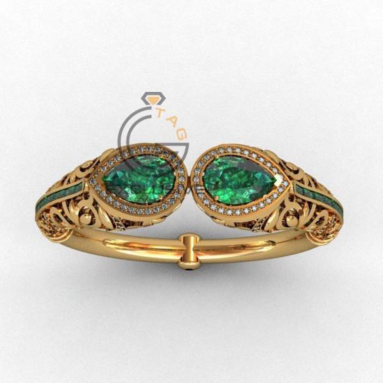 Эксклюзивный женский браслет с камнями