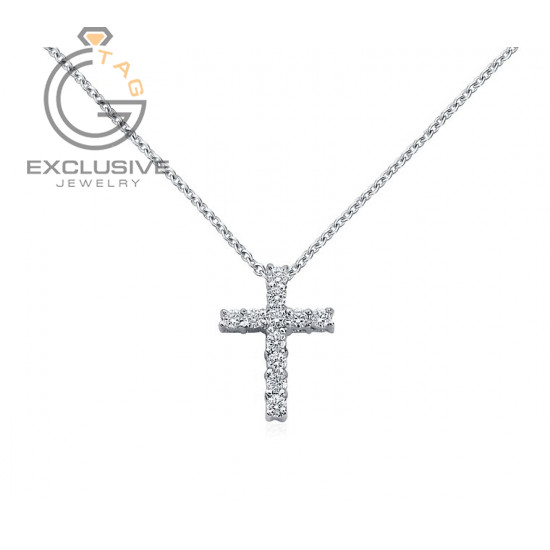 Женский крест с бриллиантами