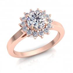 Помолвочное кольцо с камнями