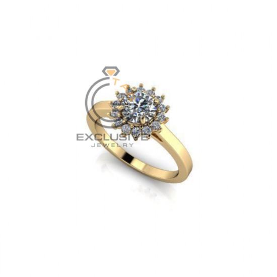 Помолвочное кольцо солнце