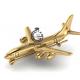 Брошь самолёт Ил 96-300