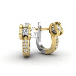 Серьги love с бриллиантами