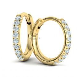 Серьги круглые бриллиантами